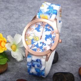 Poze Ceas dama - Blue flowers