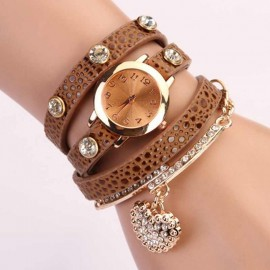 Poze Ceas dama Crystal Heart - Coffee