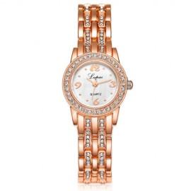 Elegant ceas de dama cu cristale - golden