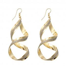 Eleganti cercei aurii cu minicristale argintii