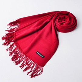 Poze Esarfa / fular casmir / cashmere, fina - red