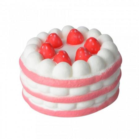 Poze Jucarie Squishy, Jumbo, parfumata, model tortulet cu capsuni - roz