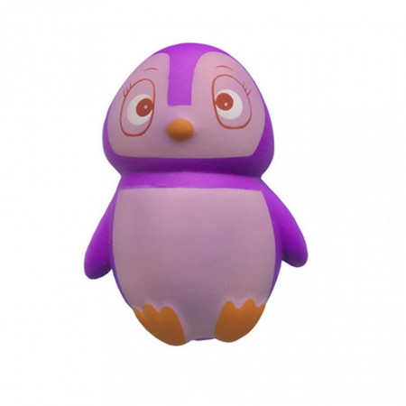 Poze Jucarie Squishy parfumata, model pinguin, purple