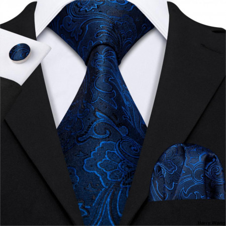 Set cravata + batista + butoni - matase naturala 100% - model 62