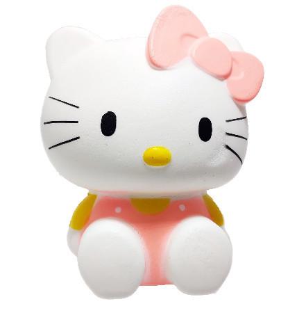 Poze Squishy Jumbo ieftina model pisicuta cu fundita, roz