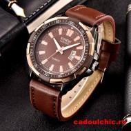 Ceas barbatesc masiv Xinew Time Master - brown + Cutie cadou
