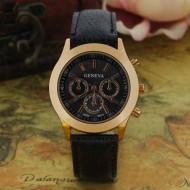 Ceas dama, Geneva, model cu auriu (negru)