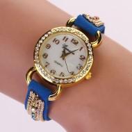 Ceas de dama, chic, cu cristale - blue