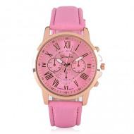 ceas geneva dama ieftin roz cu auriu