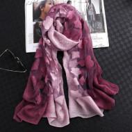 Esarfa eleganta Matase Organza, culoare mov pal / purple