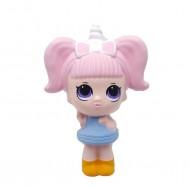Jucarie Squishy, fetita unicorn, pink