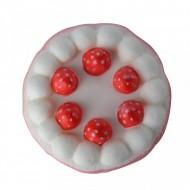 Jucarie Squishy, Jumbo, parfumata, model tortulet cu capsuni - roz