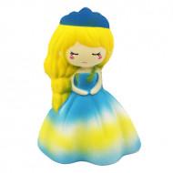 Jucarie Squishy, parfumata, model Delicate Princess, galben cu bleu
