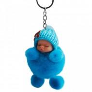 Papusica / bebelus dormind, accesoriu - bleu