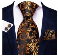 Set cravata + batista + butoni - matase 100% - model 136