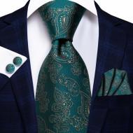 Set cravata + batista + butoni - matase naturala 100% - model 118