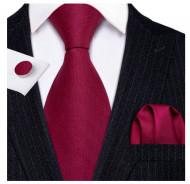 Set cravata + batista + butoni - matase naturala 100% - model 124