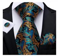 Set cravata + batista + butoni - matase naturala 100% - model 46
