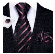 Set cravata + batista + butoni - matase naturala 100% - model 63