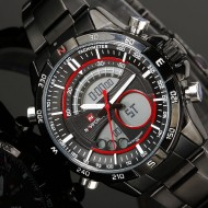 Ceas barbatesc metalic dual-time Naviforce, NF9031M, Military / Sport
