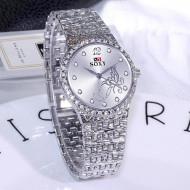 Ceas dama, de lux, Jubilee, argintiu