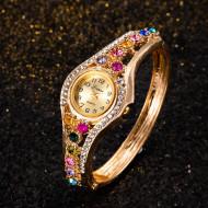 Ceas dama elegant cu cristale multicolore