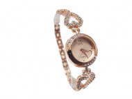 ceas finut de dama cu cristale rose golden