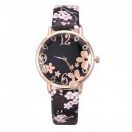 Ceas dama Flower Time, negru