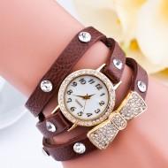 Ceas de dama cu fundita - brown
