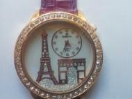 Ceas de dama cu Turnul Eiffel - disponibil in 4 culori