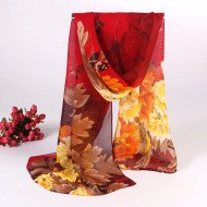 Esarfa eleganta din voal, cu design floral, model 11