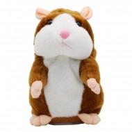 Hamster de plus vorbitor, jucarie interactive, culoare coffee