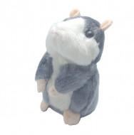 Hamsterul vorbitor, jucarie interactive, culoare alb / gri