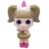Jucarie Squishy, fetita unicorn, kaki