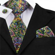 Set cravata + batista + butoni - matase 100% - model 190