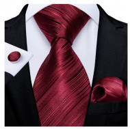 Set cravata + batista + butoni - matase naturala 100% - model 109
