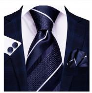Set cravata + batista + butoni - matase naturala 100% - model 119