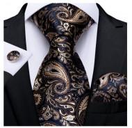 Set cravata + batista + butoni - matase naturala 100% - model 126