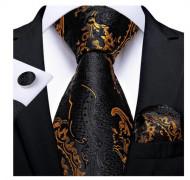 Set cravata + batista + butoni - matase naturala 100% - model 47