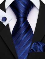 Set cravata + batista + butoni - matase naturala 100% - model 51
