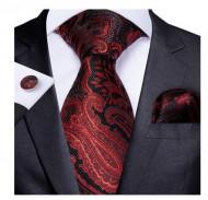Set cravata + batista + butoni - matase naturala 100% - model 54
