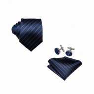Set cravata + batista + butoni - matase naturala 100% - model 8