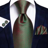Set cravata + batista + butoni - matase naturala 100%, tesatura Jaquard - model 22