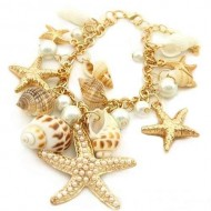 Bratara Summer Feaver Charming Gold Plated