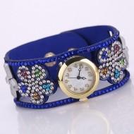 Ceas dama Colorful Flower - albastru