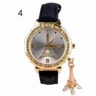 Ceas dama elegant cu cristale si pandant - originalitate si stil - negru