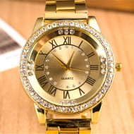 Ceas dama Golden Stylish Crystals