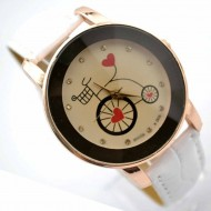Ceas dama ieftin Bicycle & Heart - Cadoulchic.ro