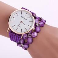 Ceas Geneva curea lunga, Flower - purple