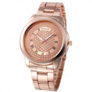 Ceas Geneva Shinning Crystals - rose golden